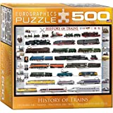 EuroGraphics History of Trains Puzzle, 500-Piece