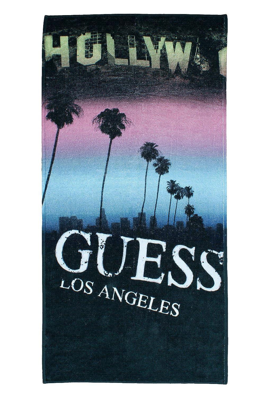Guess Back to la toalla de baño (Multicolor) GUESS Toalla Playa Negro F52Z64/SPG05/N_MULTI-U