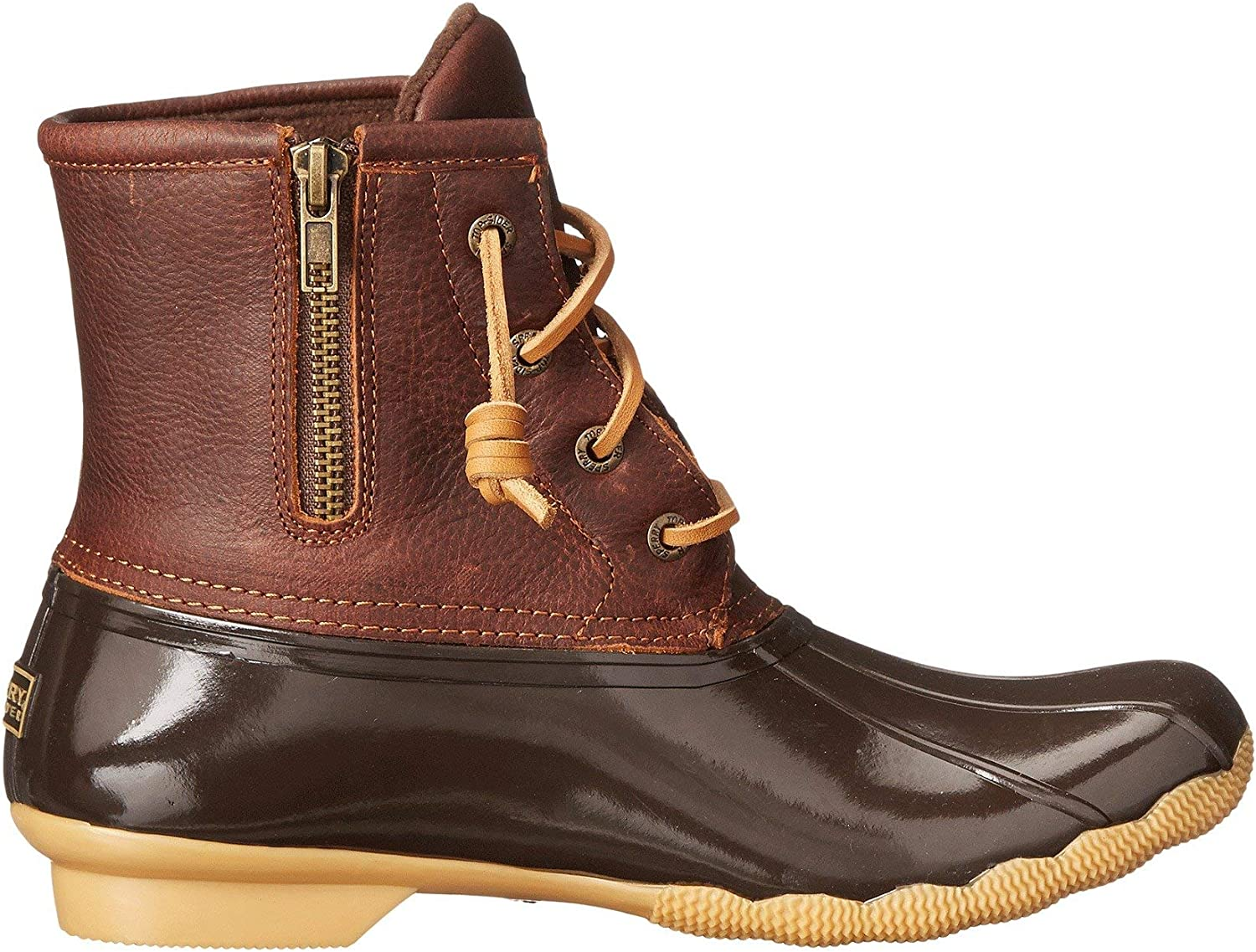Sperry Top-Sider Saltwater Rope, Bottes de Pluie Femme Black Tan Dark Brown