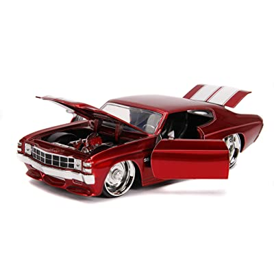 Jada 1:24 BTM – 1971 Chevy Chevelle – Red: Toys & Games