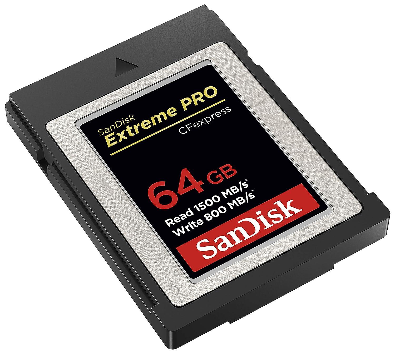 SanDisk Tarjeta Extreme Pro CFexpress Tipo B de 64 GB con hasta 1700 MB/s para vídeos Raw 4K