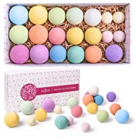 Bath Bombs Gift Set, Anjou 20 Pack Natural Essential Oils Spa Bath Fizzies for Moisturizing...