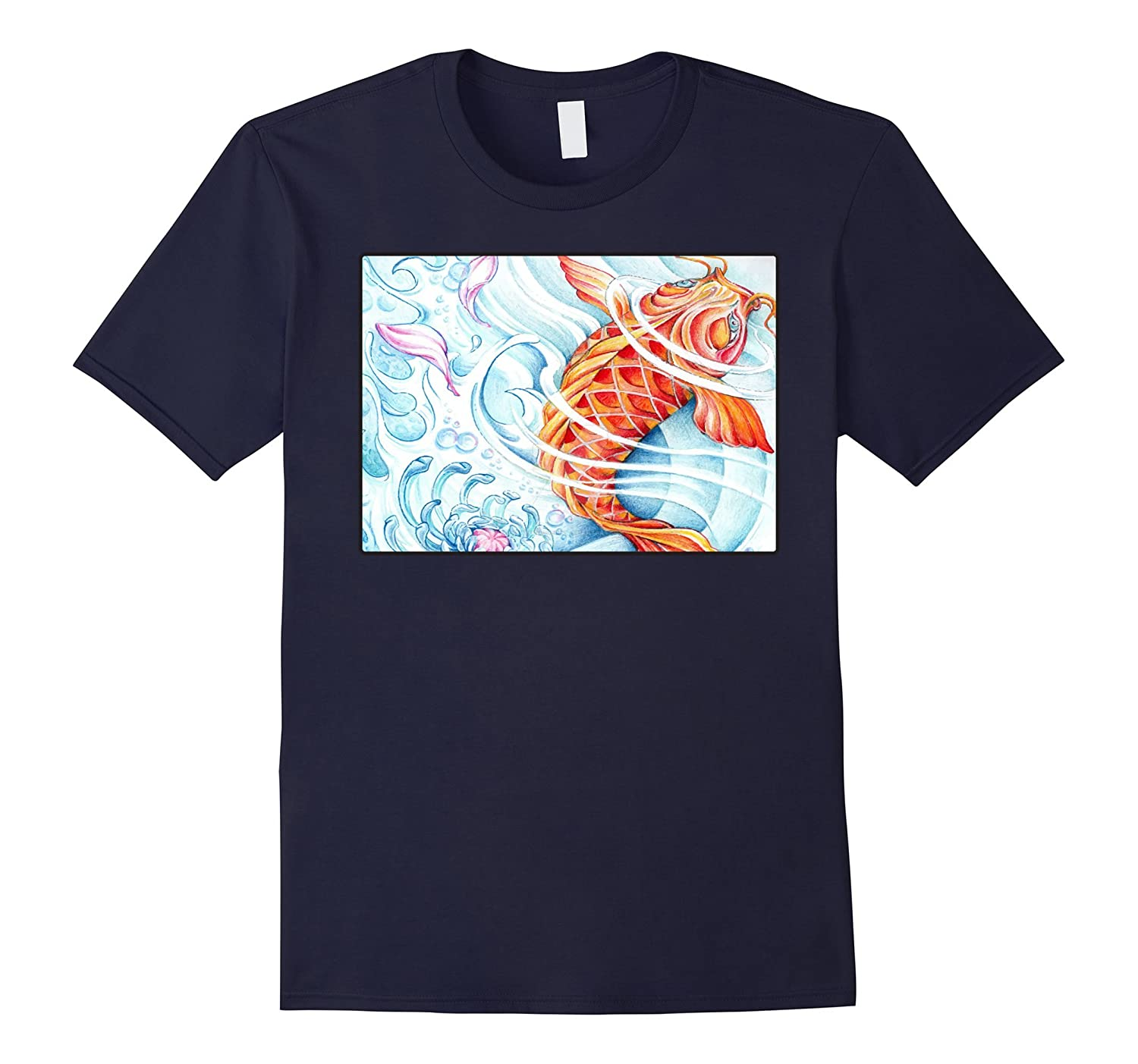 Beautiful koi fish - Mens and Womens T-shirt-PL