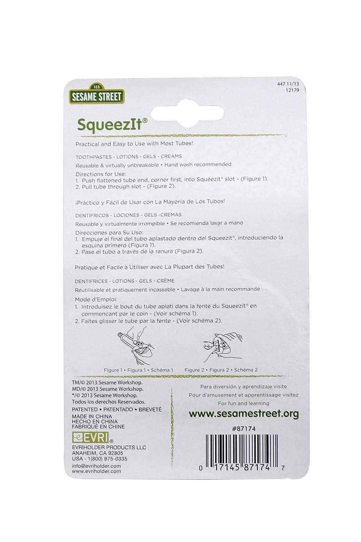 Amazon.com : Evriholder Sesame Street SqueezIt- Multipurpose Toothpaste Squeezer (87174) : Everything Else