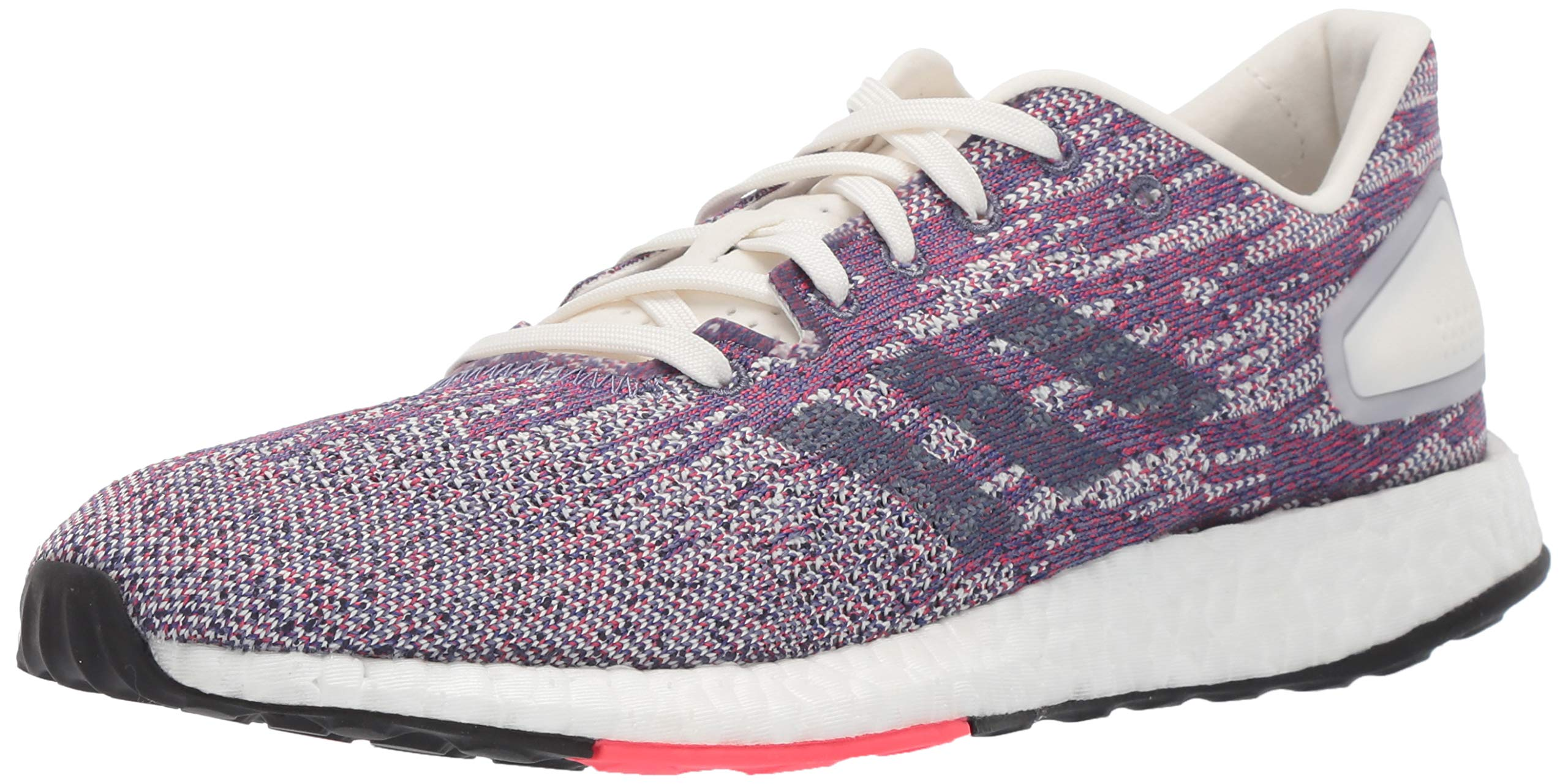 adidas Women's Pureboost DPR Running Shoes, Cloud White/raw Indigo/Shock red, 10 M US by adidas