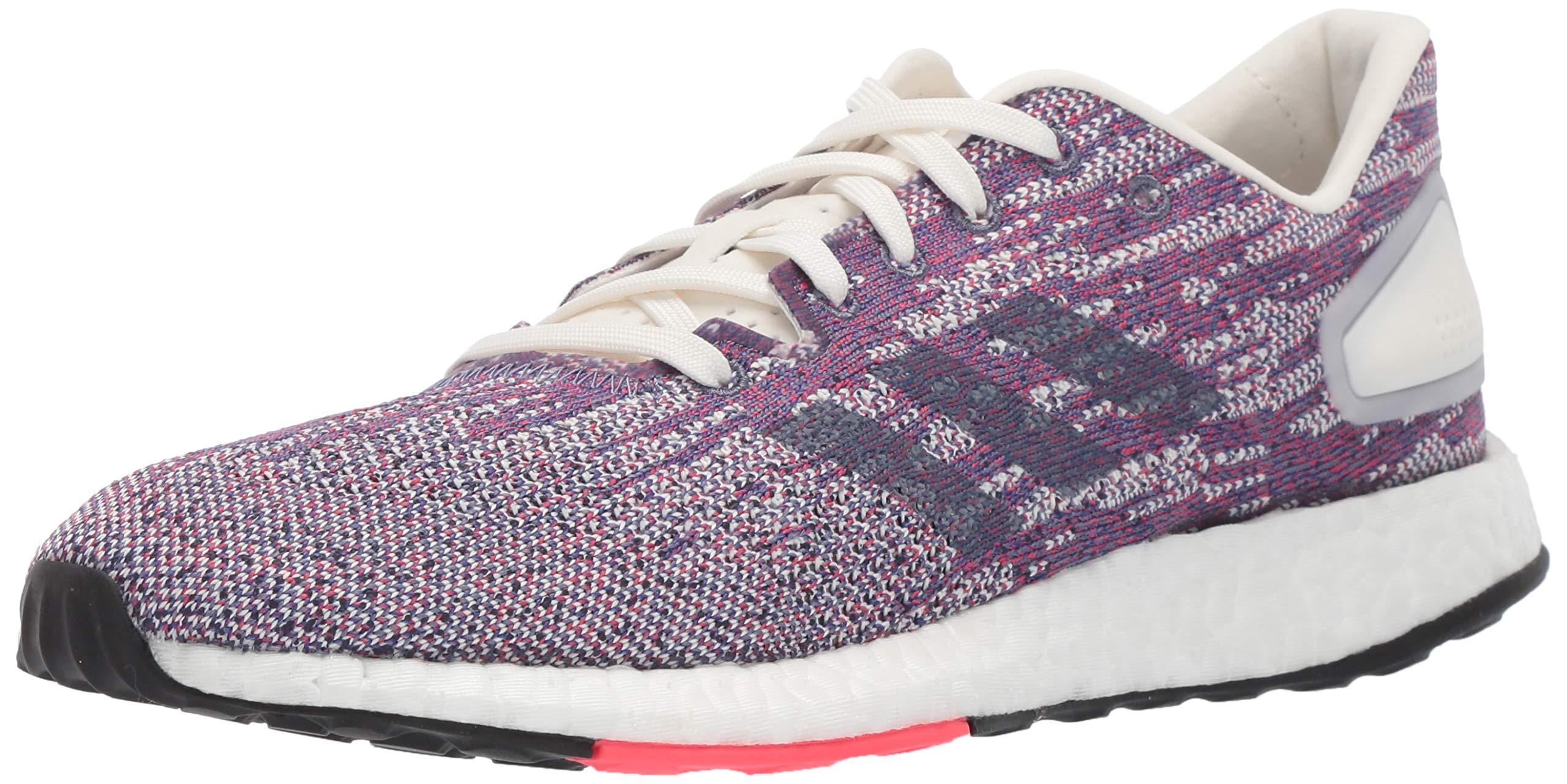 adidas Women's Pureboost DPR Running Shoes, Cloud White/raw Indigo/Shock red, 5.5 M US