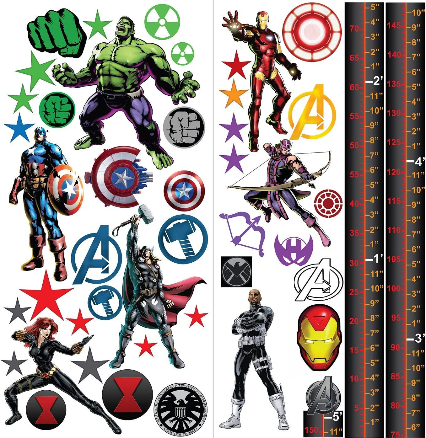 Marvel Avengers wandtatto Iron Man Niños de favoritas de ...