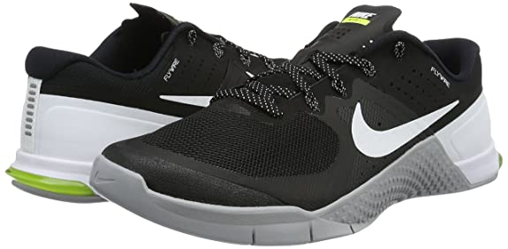 Amazon.com | NIKE Mens Metcon 2 Training Shoes Track Black/White/Wolf Grey  819899-001 Size 11 | Fitness & Cross-Training