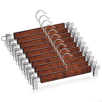Amazon.com: Casafield – 10 perchas de madera natural para ...