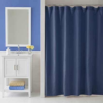 Martex Solid Color Shower Curtain Navy