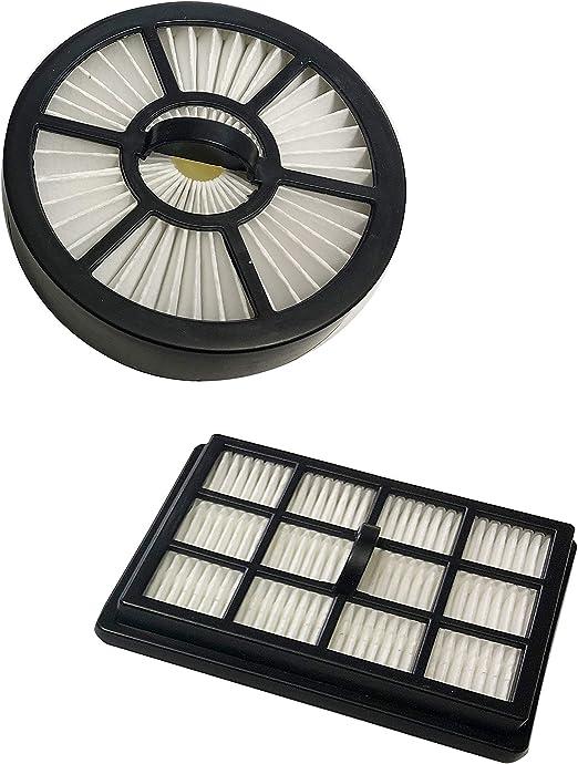 ECO-DE Set de 2 filtros HEPA Recambios para Aspirador Absolut Multi-Cyclone ECO-370 Filtro Circular + Filtro Rectangular: Amazon.es: Hogar
