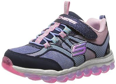 Skechers Kids Girls' Skech-Air Ultra-Glam It Up Sneaker, Silver/Multi, 12.5 M US Little Kid