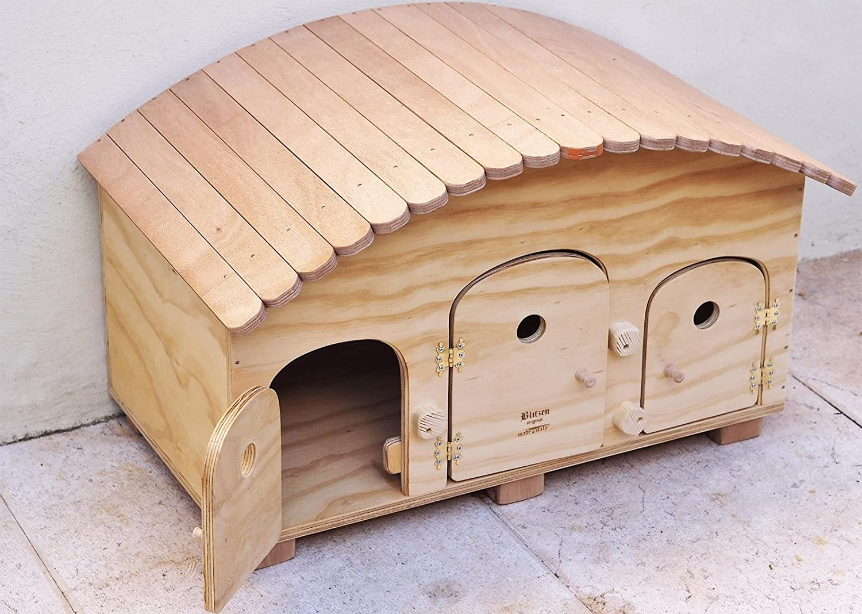 Blitzen novedades, Caping Motel WP Outdoor, caseta para perro para gatos, 3/4 orificios: Amazon.es: Jardín