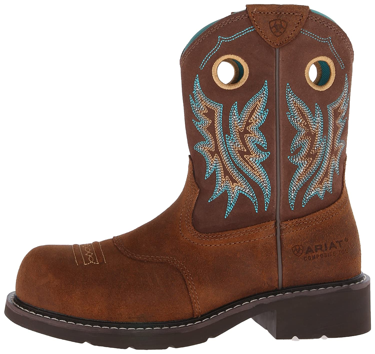1c23beb30fd ARIAT Women's Fatbaby Cowgirl Composite Toe Work Boot