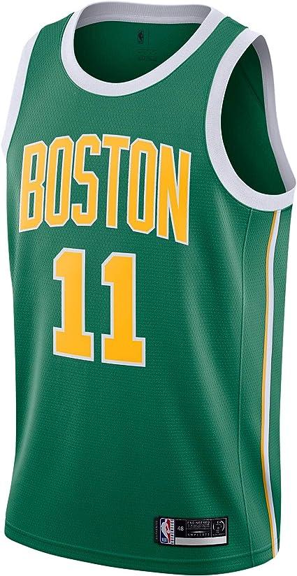 Outerstuff Kyrie Irving Boston Celtics #11 Green Yellow Youth 8-20 Earned Edition Swingman Jersey