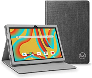 VANKYO Tablet Case for MatrixPad S30 Tablet 10.1 inch, VANKYO MatrixPad S30 Tablet Slim Stand Folio Cover, Premium PU Leather Fit with Multiple Viewing Angles, Gray
