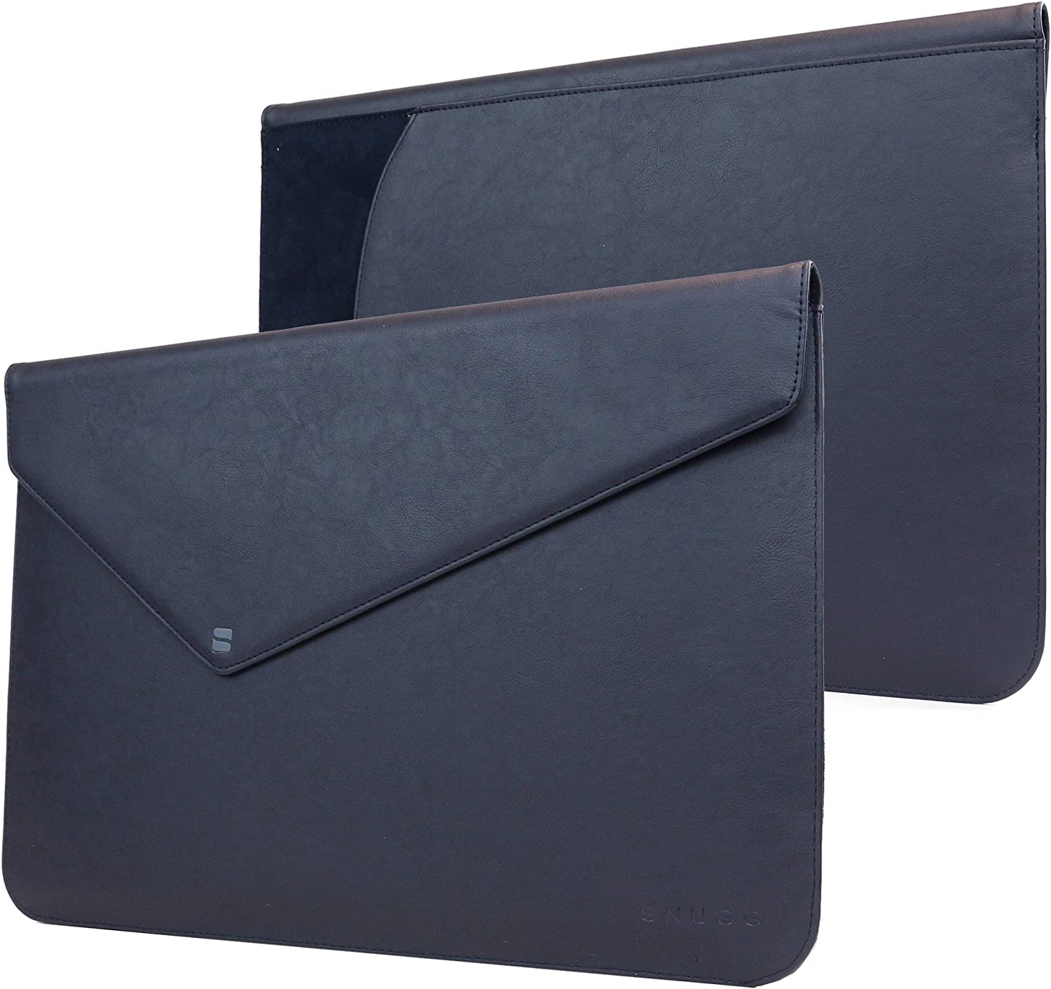 "MacBook Pro Touch 15"" (2016, 2017) Sleeve, Snugg - Riverside Blue Leather Sleeve Case Protective Cover for MacBook Pro Touch 15"" (2016, 2017) 15"" Touchbar"