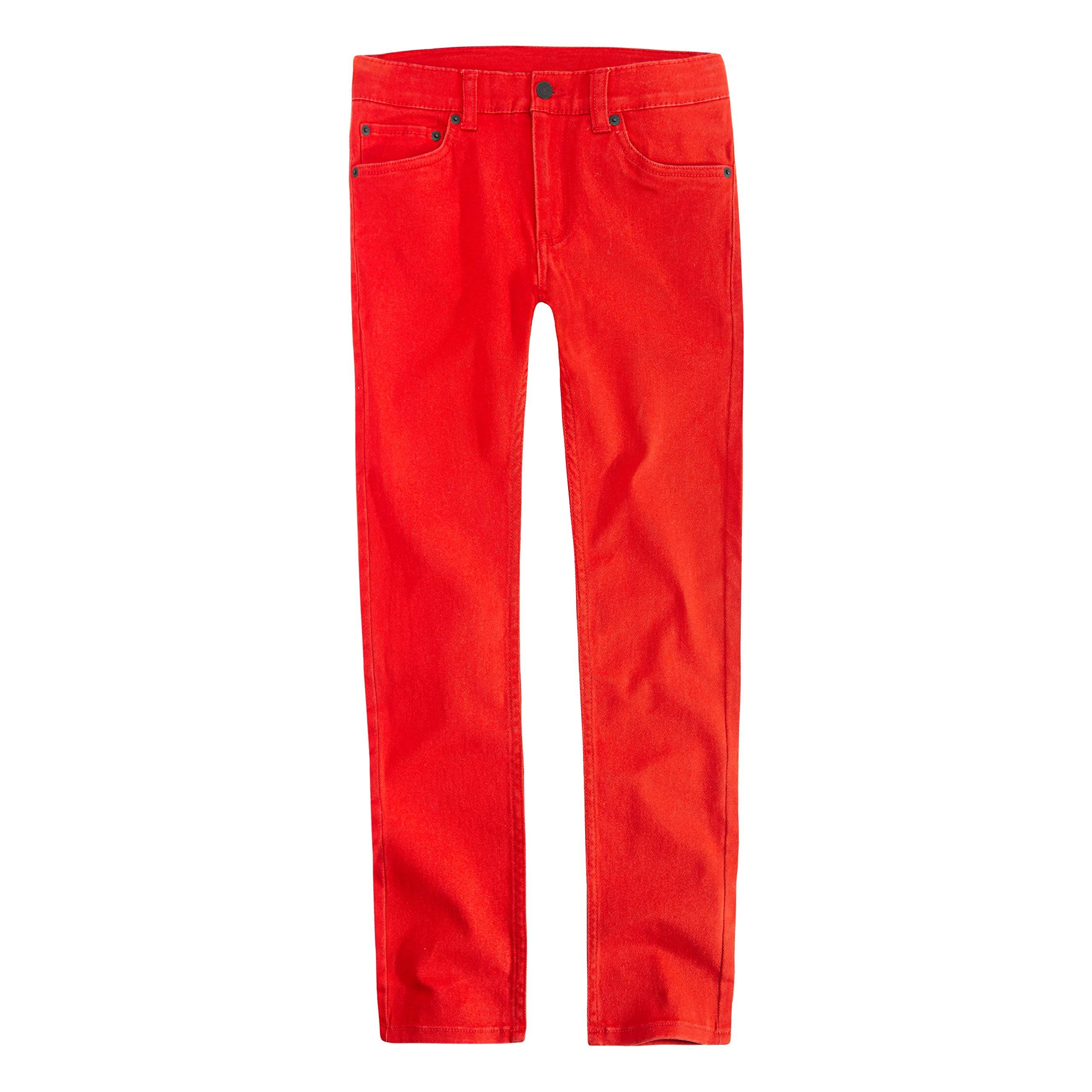 Levi's Boys' Big 510 Skinny Fit Jeans, Aura Orange, 8 by Levi's (Image #1)
