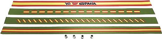 Pulseras de tela con la bandera ESPAÑOLA en pack de 4 unidades. Verde militar | Pulsera con la BANDERA DE ESPAÑA | Regalo original: Amazon.es: Hogar