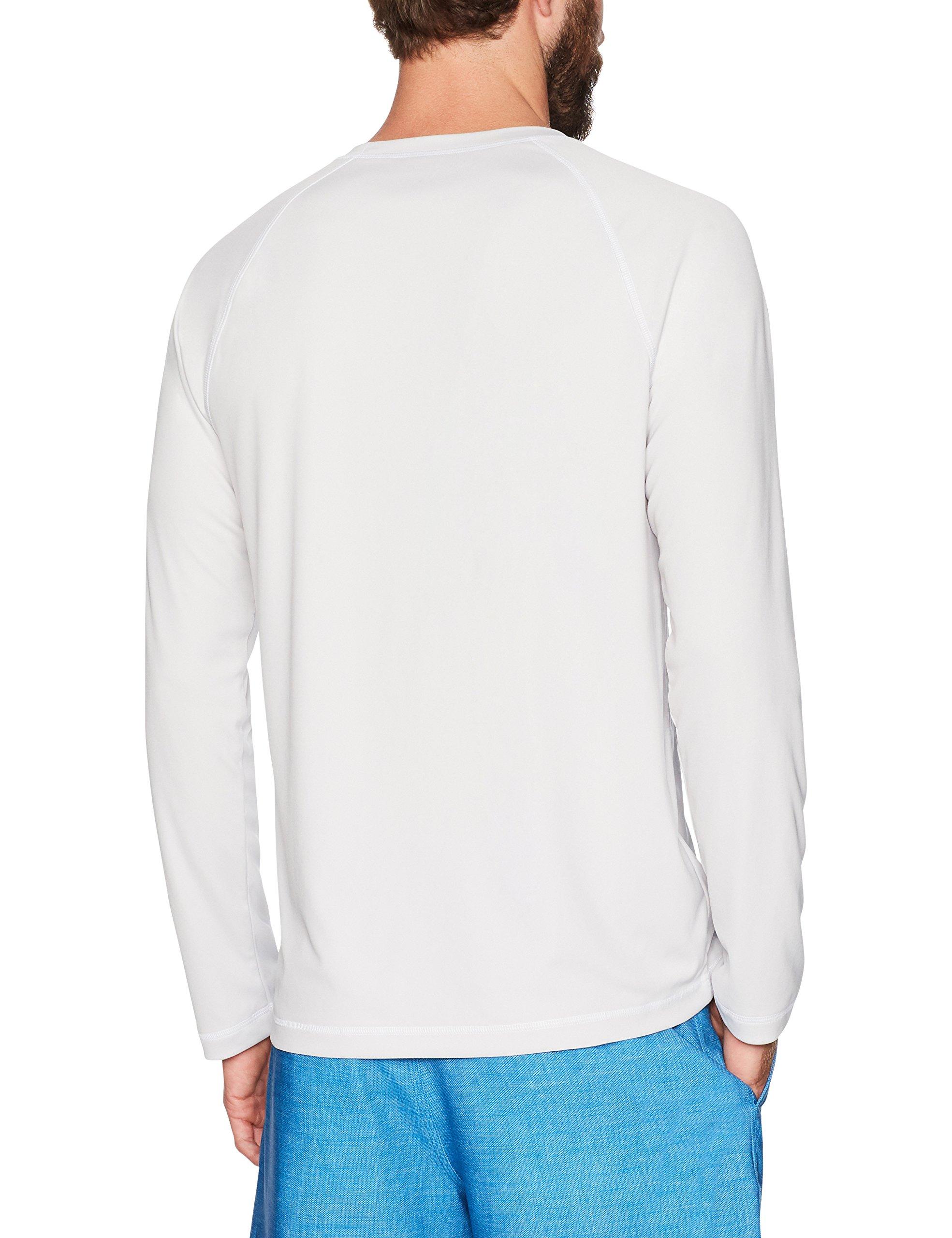 Amazon Essentials Men's Long-Sleeve Quick-Dry UPF 50 Swim Tee, Silver, Medium by Amazon Essentials (Image #4)