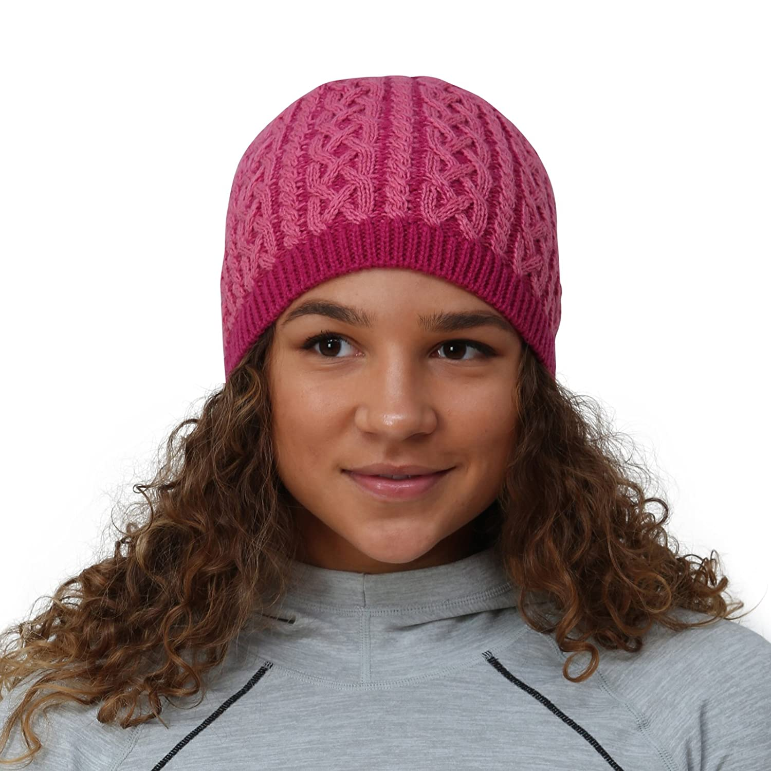 TrailHeads Cable Knit Women's Winter Beanie - 2 Colors - black / white