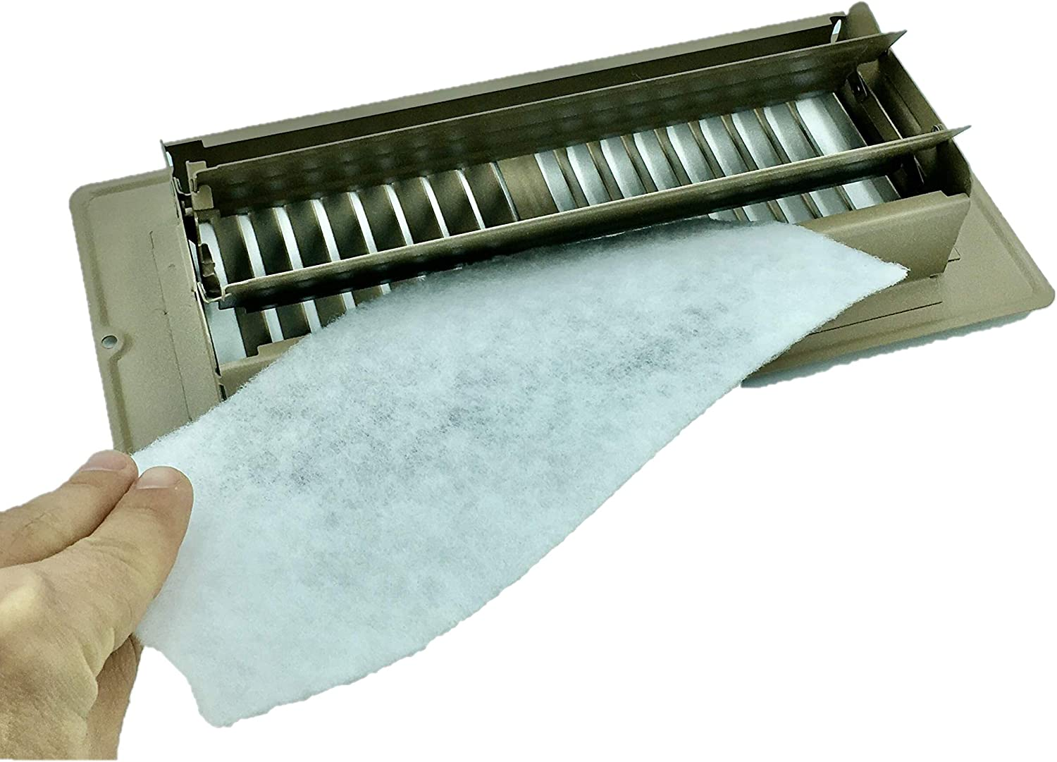 "Vent Register Filters, 24 pieces of Floor Vent filtration for Dust, Allergies, Odors and more. 4""x10"", 90 day filtration."