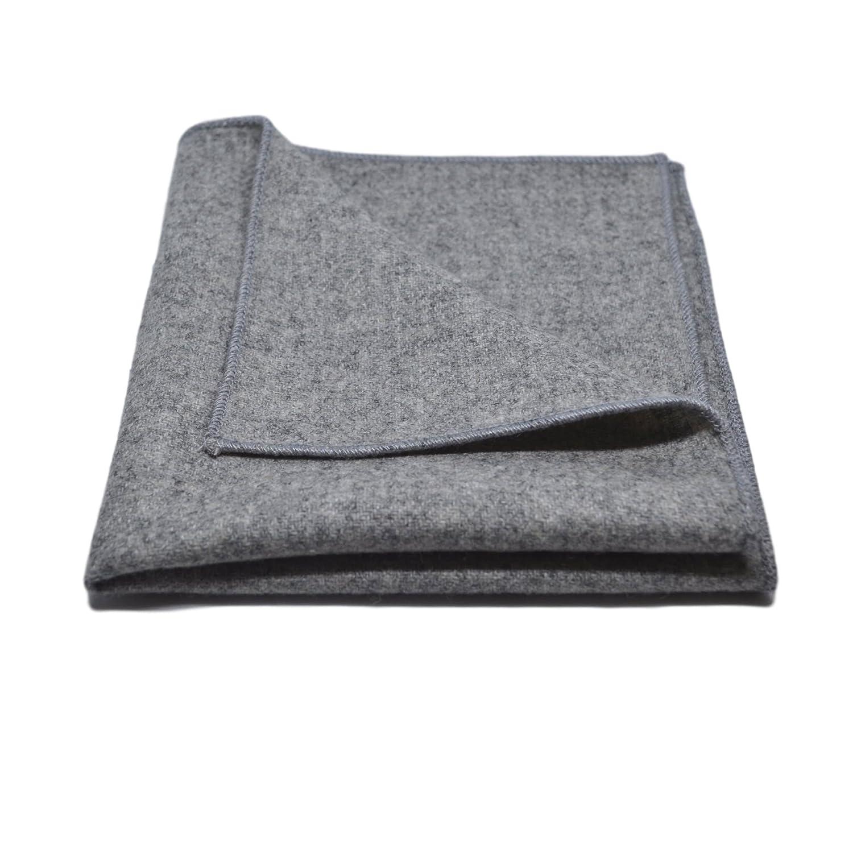 Stonewashed Medium Grey Pocket Square, Handkerchief King & Priory