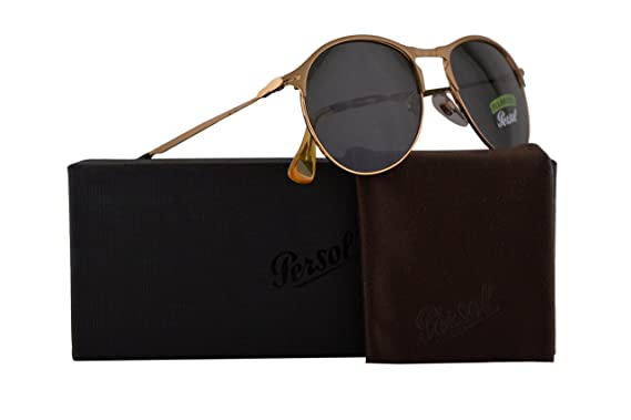 2ff4e836bb Image Unavailable. Image not available for. Color  Persol PO7649S Sunglasses  Matte Gold w Polarized Green Lens 53mm 106958 ...