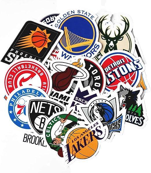30 pegatinas de la NBA con el logotipo del equipo de baloncesto ...