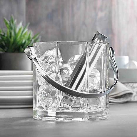 Amazon Com Home Essentials Tablescape 2 Piece Ice Bucket Set 30 Oz Kitchen Dining