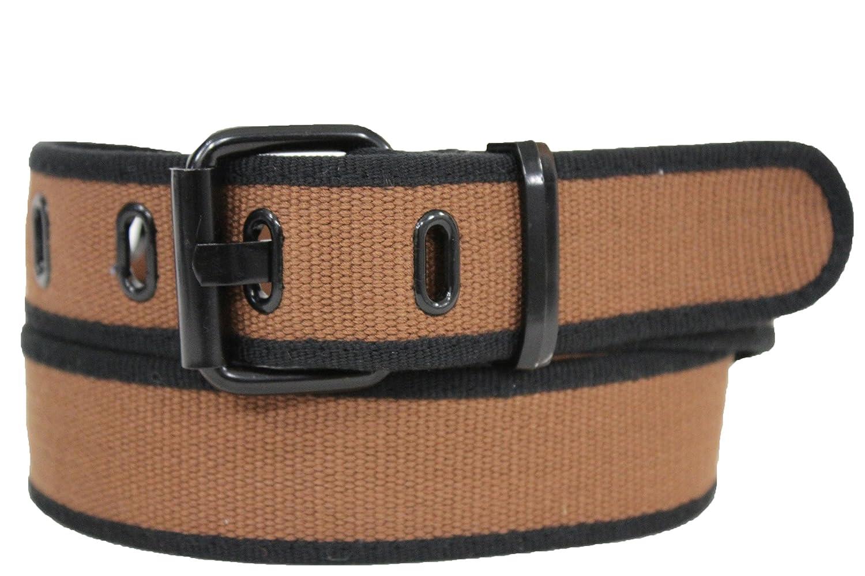 TFJ Women's Classic Fashion Fabric Belt Metal Buckle S M L Black Brown