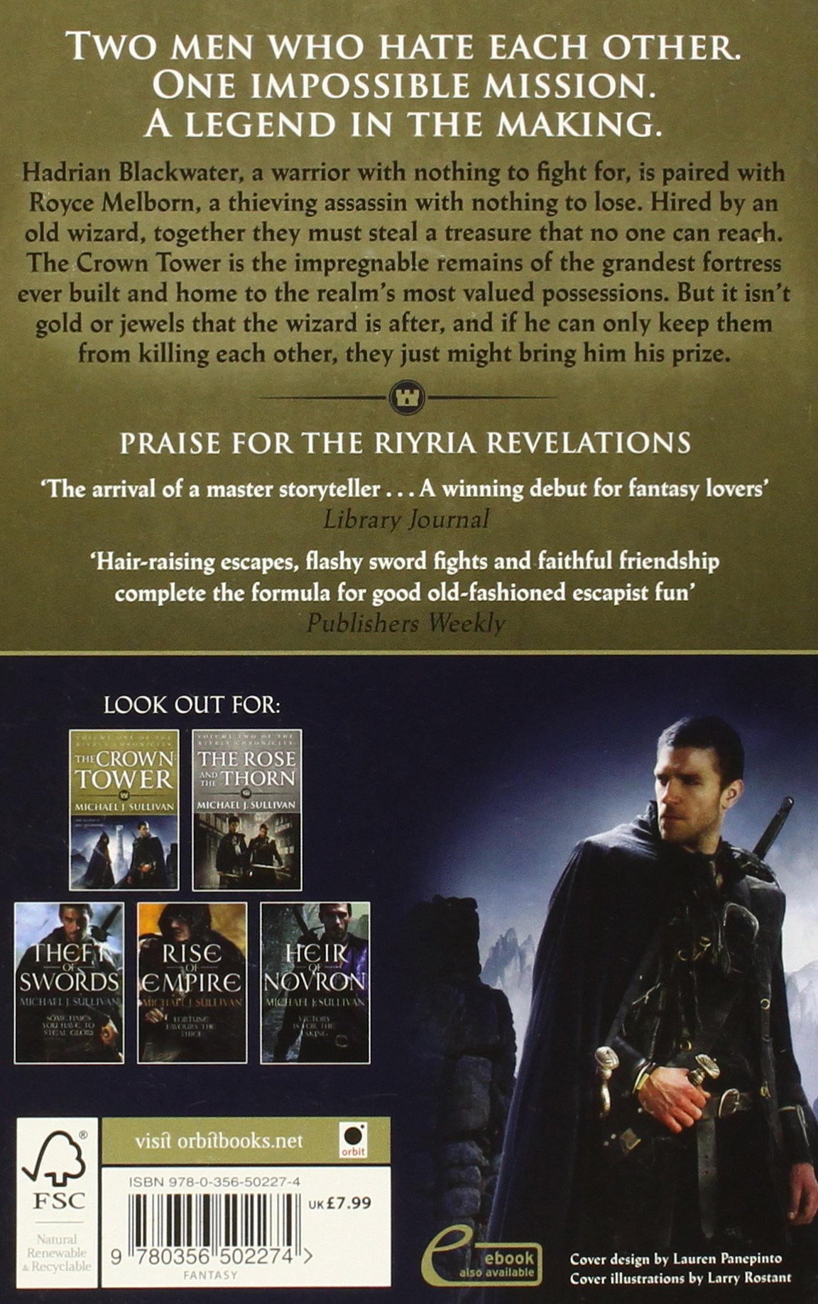 The Crown Tower: Book 1 Of The Riyria Chronicles: Amazon: Michael J  Sullivan: 9780356502274: Books