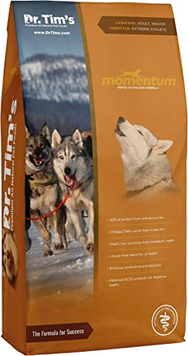 Dr. Tim S Premium All Natural Dog Food Momentum Highly Active Dog Formula 40