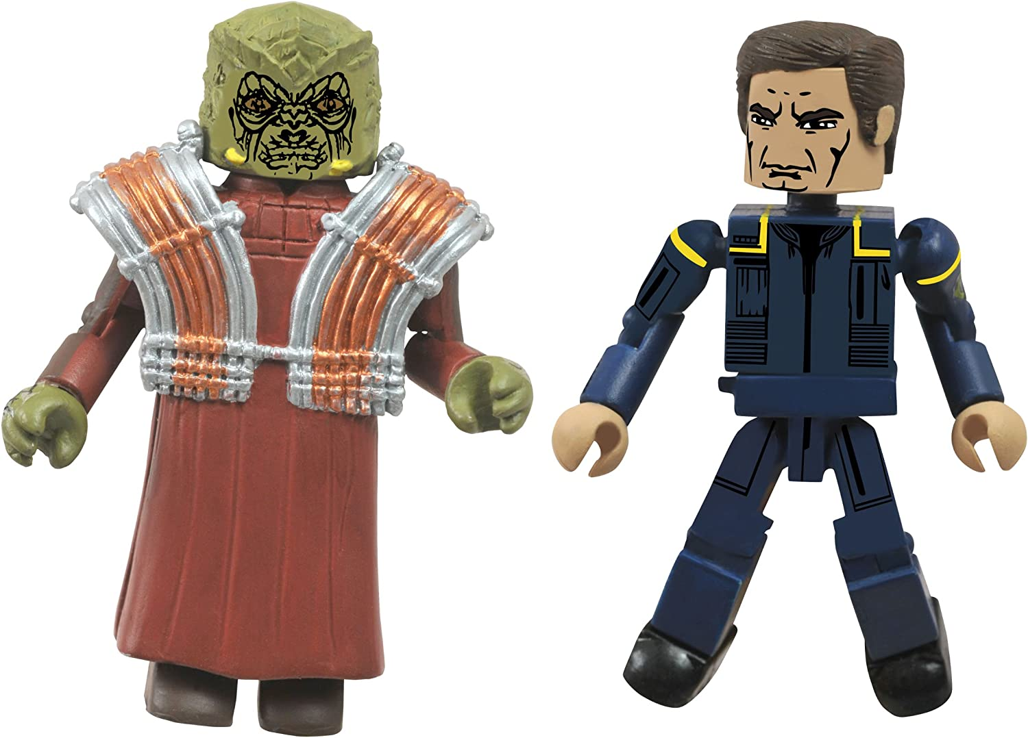 Star Trek Legacy Minimates Wave 1 First Contact Captain Picard /& Borg Queen