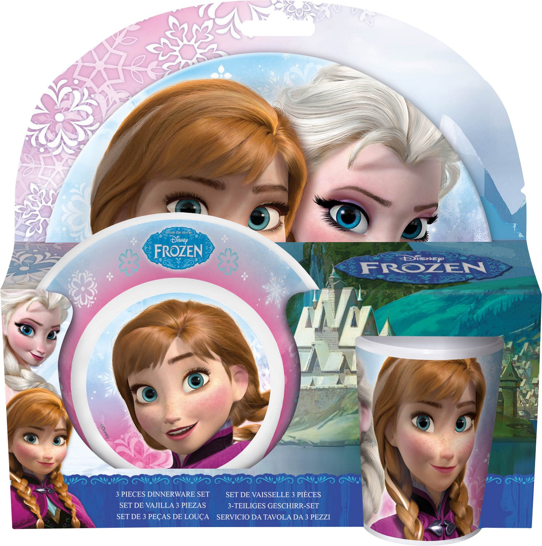 *Frozen* Fr/ühst/ücksset im Sleeve Melamin 3tlg