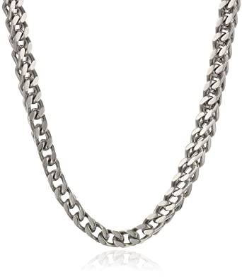 483a2da6c3dc7 Men's Stainless Steel 4mm Foxtail Chain Necklace, 22