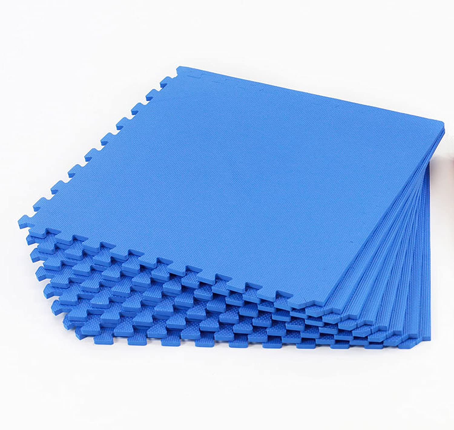 Interlocking Blue Gym Play mats 8 pack 32 sq ft Amazon