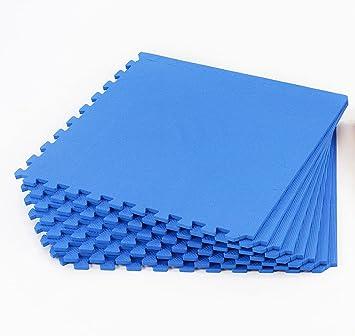 Easimat Tapis De Sol Emboîtable Pour Gymnastique Bleu Amazonfr - Carrelage pas cher et dimension tapis gym