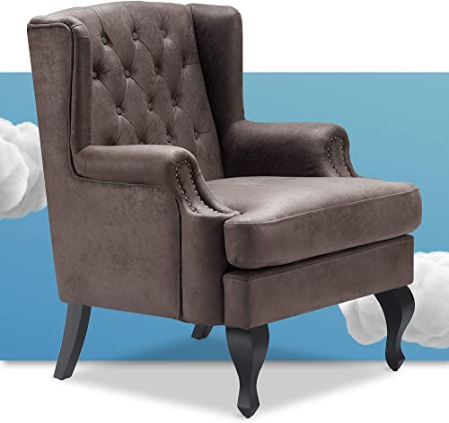 Serta Mason Sofa Collection Button Faux-Leather Upholstery