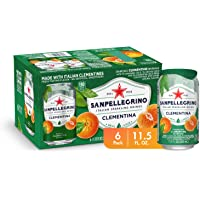 Sanpellegrino Italian Sparkling Drink, Clementine, 11.15 fl oz. Cans (Pack of 6)