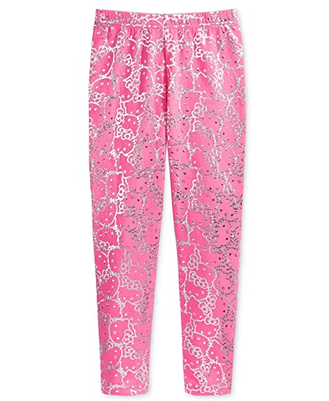 7506fa2f1 Image Unavailable. Image not available for. Color: Hello Kitty Little Girls  Metallic-Print Leggings ...