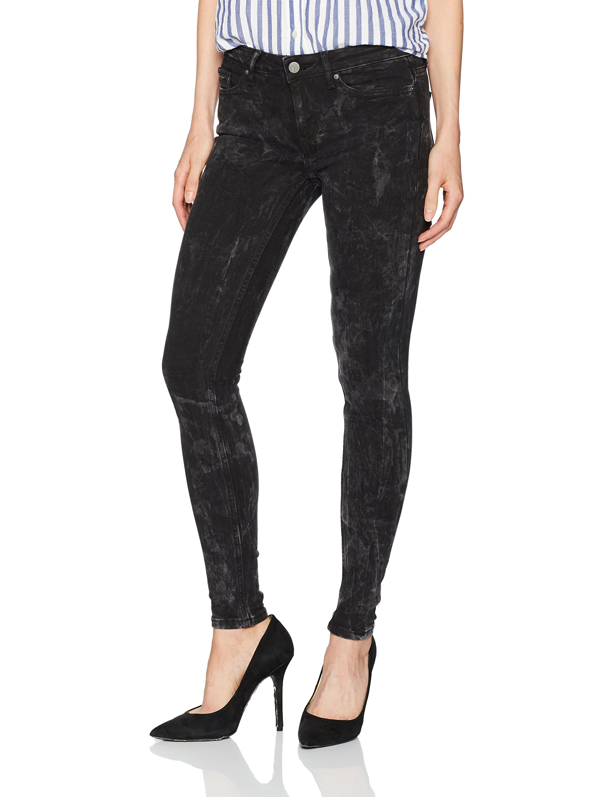 Calvin Klein Jeans Women's Legging Jean, Black Crush, 31