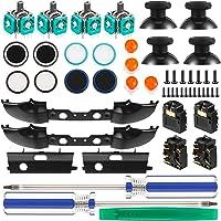 Kit de 31 Repuestos de Controlador de Juego, Tapa Agarre, Joystick, Parachoque Disparador LB RB, Botones ABXY, Puerto…