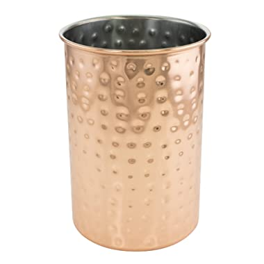 KOVOT Hammered Copper Plated Utensil Crock