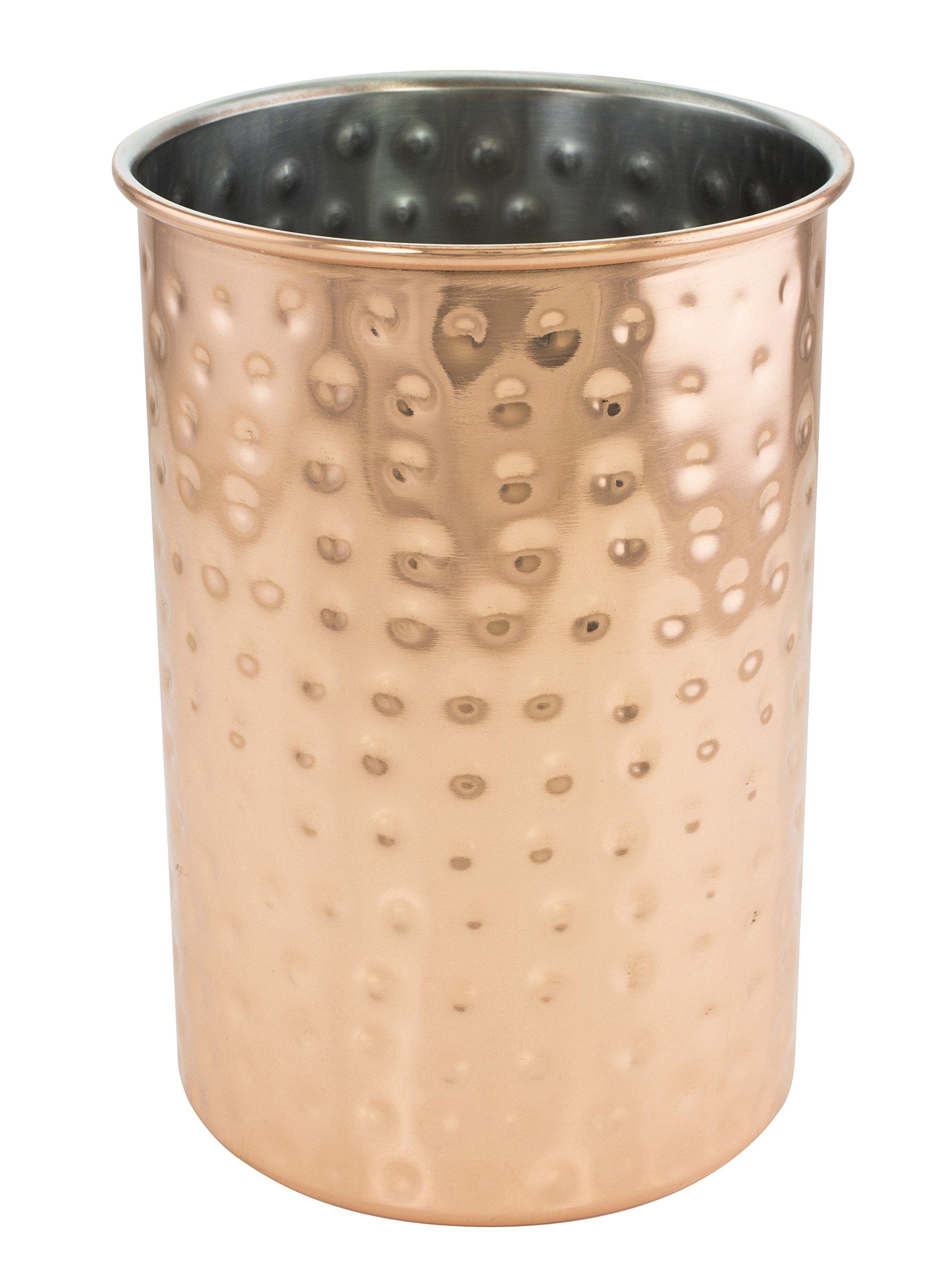 KOVOT Hammered Copper Plated Utensil Crock
