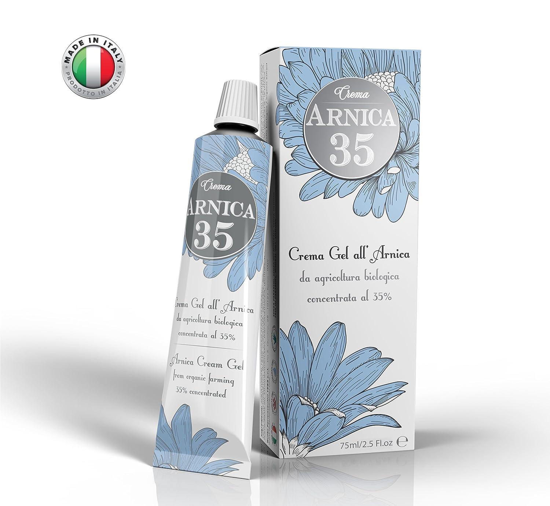 Arnica 35 - LA PIÙ CONCENTRATA - Crema Gel all'Arnica concentrata al 35% - ELIMINA EMATOMI - RIDUCE GONFIORI, DOLORI MUSCOLARI E ARTICOLARI - NUOVO FORMATO 75ml Dulàc Farmaceutici 1982 srl