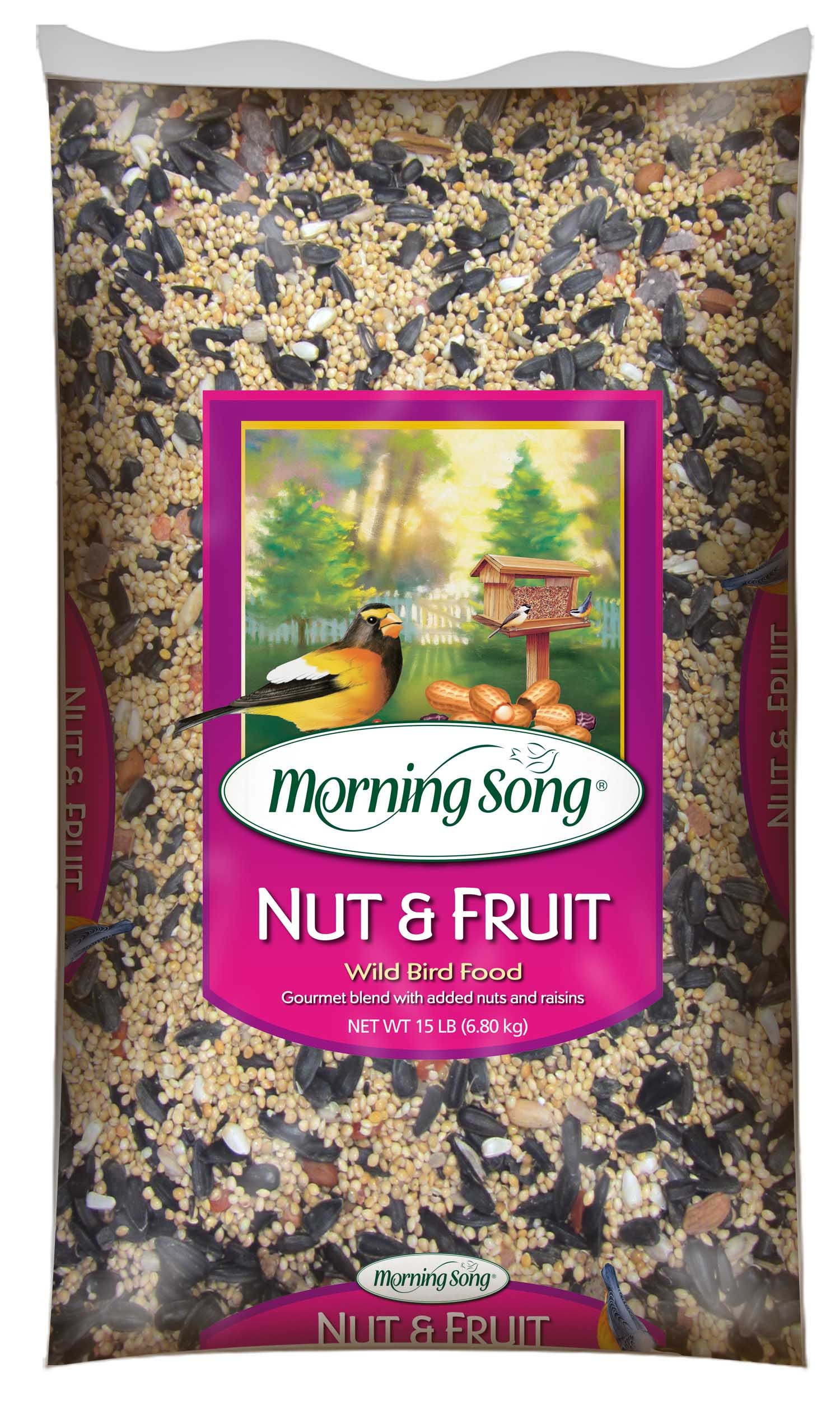 Morning Song 11988 Nut and Fruit Wild Bird Food, 15-Pound by Morning Song
