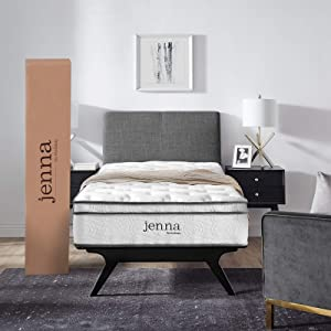 "Modway AMZ-5768-WHI Jenna 10"" Twin Innerspring Mattress"