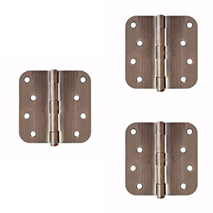 3pcs 4u201d×4u201d Heavy Duty Stainless Steel Interior Door Security Hinge 5/