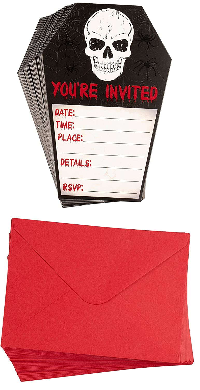 Amazon.com: Halloween Invitation Cards - 60-Pack Halloween Party ...